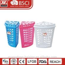 Cesto de roupa de plástico popular/Hot venda cesta de lavanderia com lid(44L)