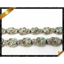 Bijoux en perles de pyrite de crâne, Vente en gros Pierres précieuses en pyrite (GB0106)