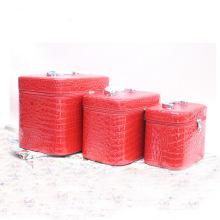 Bolsa de cosmética vermelha Bolsa de beleza Lady PU Bag