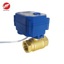 La válvula de agua de control de flujo 12v más duradera motorizada con temporizador