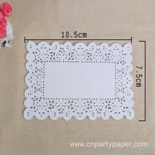 Wholesale 7.5x10.5cm Greaseproof Colored Lace Square Paper Doilies