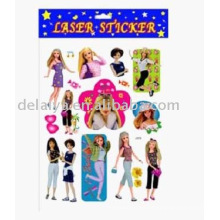 Cartoon barby sticker