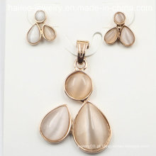 Imitação de aço inoxidável moda set jóias para decoração