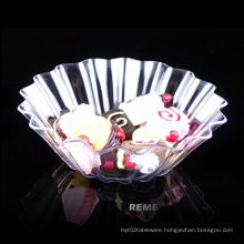 Tableware Plastic Disk Disposable Saucer Fluted Plastic Serving Dish