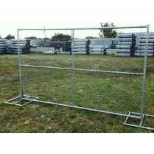 High Performance Hot mencelupkan Galvanized Chain Link Fence