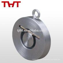 columpio de oblea de disco único 6 dimensiones de válvula de chequeo de oblea de retorno de columpio