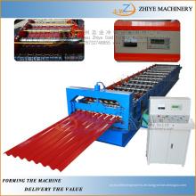 Gewölbte Dachziegel Kaltmacherei Maschinen / Automatische Herstellung von kalt Roll Stahl Dachziegel Maschine