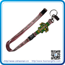 China Wholesale Sublimation Printing Keychain Lanyard with PVC Crest, Bulldop Clip and Split Ring