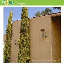 Mejores ventas de pared de acero inoxidable con batería con Panel Solar de 4W