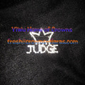 Crowns Pins With Letter Of JUDGE