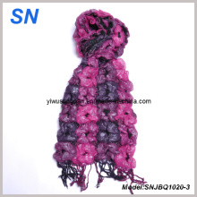 2014 Fashion Skinny Stripe Checked Winter Warm Ruffle Bubble Scarves