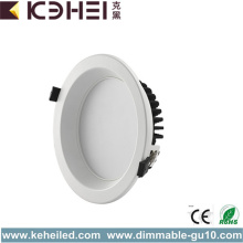LED Downlights 18W 6 tums vit svart silver