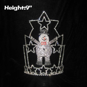 9in Height Snowman Christmas Pageant Crowns With Stars