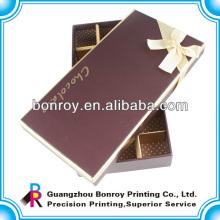 Offset bedruckte Klarkarton benutzerdefinierte Lebensmittel Schokolade Verpackung Box