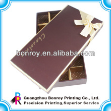Offset printed clear cardboard custom food chocolate packaging box