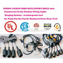 Outdoor String Lights Set Commercial Grade Edison Strang Beleuchtung - 48ft Heavy Duty Cord 18 Sockets 21 Glühbirnen (3 Spa