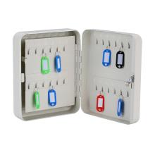 Gabinete de acero para llaves de seguridad de oficina moderna con ganchos