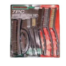 Eterna IB-WB-040 Industrial Plastic Handle Steel Wire Brush Set 7PC Multi-Size Wire Brush Set