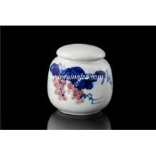 Pintura de uvas cerâmica vasilha conjuntos