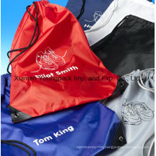 Wholesale Promotional Custom Waterproof 210d Nylon Drawstring Shoe Bags