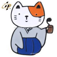 Insignias de encargo del animal doméstico del gato del esmalte del metal del níquel de la venta caliente