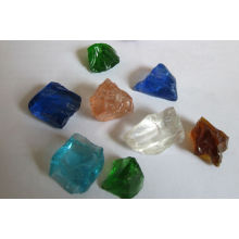 Roche de paysage de verre colorée