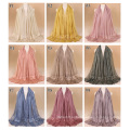 TINGYU Wholesale Fashion Plain Color Women Muslim Scarf Hijab