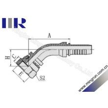 45 Grad Orfs weibliche hydraulische Schlaucharmaturen (24241)