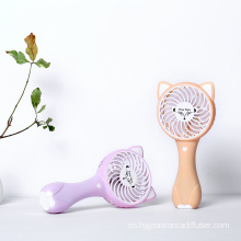 Mini Electric Handheld Fox Fan Carga USB portátil
