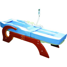 Chinese Luxury Electric Full Body Far Infrared Heat Jade Roller Automatic Spine Massage Bed Table with Tourmaline stone