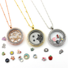 Alimentation d'usine en verre flottant Living Locket Jewelry Necklace Pendant