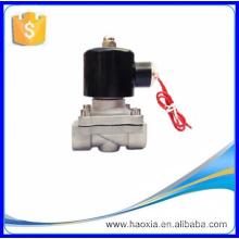 Válvula de solenoide bidireccional de acero inoxidable de 16 bar normalmente abierta