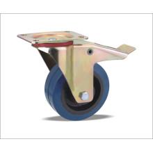 Roda giratória com rodas elásticas de borracha