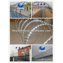 with sharp blade razor wire concertina wire BTO22 razor barbed wire