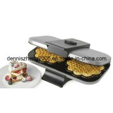 Doble Waffle Maker, waflera estilo belga, corazón Shapred