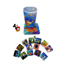 Promotional Gift 3D Effect Lenticular Printed Cup Coaster