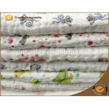 Coton bio à fleurs AB 100% couverture bébé pour nouveau bébé