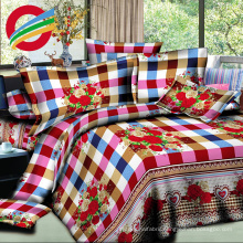 cheap new printed bed sheet fabric set for making
