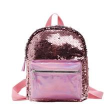 Girl's Small Backpack Fashion Shining Sequin Bag Girls Back Pack For Girls Kids