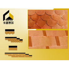Rectangle (overlapping) Copper Roof Tiles
