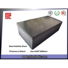 Feuilles de bakélite noires en plastique solide ou en stratifié compact