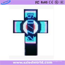 Programmierbares LED Apotheken-Kreuz P10 im Freien