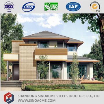 Vorgefertigte leichte Stahlstruktur Villa