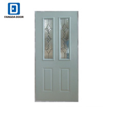 Polystyrene foam infilled glass panel garage door
