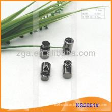 Metallkordelstopper oder Knebel für Kleidungsstücke, Handtaschen und Schuhe KS3001