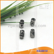 Metal cord stopper or toggle for garments,handbags and shoes KS3001
