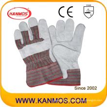 Industrial de seguridad de cuero de vaca Split Fll Palm cuero trabajo guantes (11004)