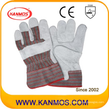 Industrial Safety Cowhide Split Fll Palm Leather Work Gloves (11004)