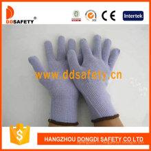 Gant de travail tricoté en coton violet Dck504