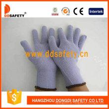 Luva de trabalho de malha de algodão violeta dck504